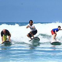 Surf coaching program